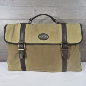 Fossil Waxed Canvas Leather Messenger Bag